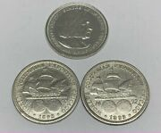 1893 And 1892 Silver Columbian Exposition Us Commemorative Half Dollar Worlds Fair