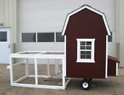 Gambrel Barn Chicken Coop With Wheels - Perfect For Backyard Chickens. Usa Made.