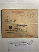 1949 Danzig Red Cross Official Internee Cover Locally Used Free Postage