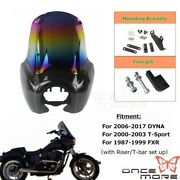 Abs Headlight Mask Upper Fairing W/15 In Windshield For Harley Chopper Scooter