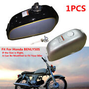 Motorcycle 6l Cafe Racer Bike Steel Fuel Gas Tank+cap Switch For Universal Refit
