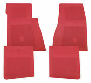 Restoparts Red Rubber Bowtie Floor Mat Set 1964-1977 Chevelle And Monte Carlo