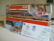 Lionel Lube Flatbed Toy Truck W/3-dome Rail Car And Operating Lights/sounds