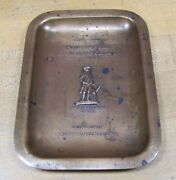 1920s Middlesex Mutual Fire Insurance Co Ad Tray Concord Mass Wandh Nwk Nj