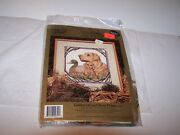 Something Special Counted Cross Stitch Golden Lab And Decoy Picture 14 X 14 Nip