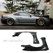 New 2pcs Front Fender Parts For Nissan S15 Silvia Rb-style Style Frp Unpainted