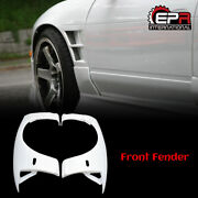New Frp Bn-sports +25mm Front Fender Cover Plates Kit For 89-94 Nissan 180sx S13