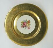 Limoges French Decoration Gold Hand Painting Floral Plate