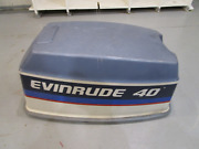 0279842 Evinrude Johnson Outboard 40 Hp Manual Start Top Motor Cover Cowl 1970and039s
