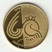 2008 Independence Day Coin Israeland039s 60th Anniversary Pr 0.5oz Gold Off-quality