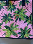 11x10x7 Medium Hawaiian Insulated/gift Bag. Pink Palms.