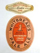 Vintage Whitbread's Pale Ale Beer Label Van Munching Import England And Neckband