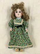 Antique 12 German Doll Bisque Head Composition Body Sleep Eyes Open Mouth Teeth