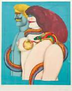 Richard Lindner Lithograph From Portfolio After Noon Titled How It All Began
