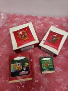 Lot 4 Scooby Doo Hallmark Christmas Ornaments Holiday Adventures Lunch Box New