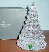 Waterford Christmas Tree Large Clear Crystal 6.5 Sculpture New In Box