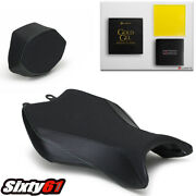 Kawasaki H2 Seat Covers With Gel 2015-2021 With Cowl Cover Luimoto Black Carbon
