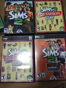 Sims Collection Pc Cd. Fashion/ Glamour/ Open For Business/ Family Fun Sims 2