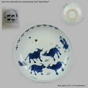 Antique Chinese Ca 1600-1640 C Porcelain China Plate Cows And Shepperd ...