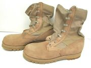 Wellco Air Force Desert Tan Hot Weather Combat Boots New Pair 7.5 N Vibram Sole