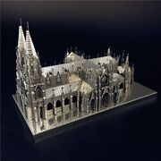 St. Patrick's Cathedral 3d Metal Model Kits Assemble Puzzle Building Toy