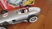 Jnf 1950and039s Tin Toy Race Car 13 Famous Mercedes Benz W 196 Made W Germany 1950and039s