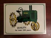 John Deere Vintage Advertising Metal Tin Sign Quality For Over 100 Years