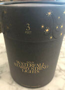 Restoration Hardware Gold Waterfall Starry String Lights - 3 Ft - 59 - New