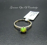New 9k Gold New 9ct Gold Opal And Diamond Ring Size N 1.56g Us Size 6 3/4
