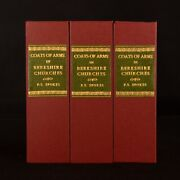 1935-1940 3vol Coats Of Arms In Berkshire Churches Spokes Signed