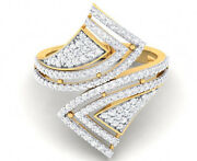 2.48ct Natural Round Diamond 14k Solid Yellow Gold Cluster Ring Size 7 To 9
