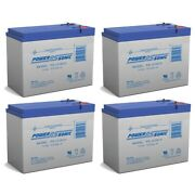 Power-sonic 12v 10.5ah Replacement Battery For Neuton Mowers E0683-310w - 4 Pack