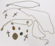 Lot Of Christian Religious Jewelry Necklace, Pendents, And Pins