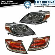 4 Piece Headlight And Tail Light Lamp Kit Lh Rh Set For Honda Civic Coupe New