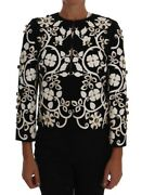 Dolce Gabbana Runway Cameo And Crystals Embellished Jacket.it 40 Retail 8000