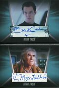Star Trek Inflexions Autograph Booklet Card Benedict Cumberbatch And R Montalban