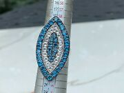 Colleen Lopez Sterling Silver 8.2ct London Blue And White Topaz Marquise Ring Hsn