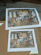 Charles Peterson Limited Edition Print Carousel Horses 1913/3000 And 1910/2600