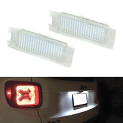 Oe-fit 3w Full Led License Plate Lights For 15-up Jeep Renegade, 16-up Fiat 500x