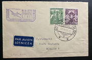 1939 Gdynia Poland First Flight Airmail Cover Ffc To Venezia Italy
