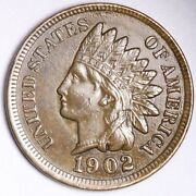 1902 Indian Head Small Cent Choice Unc Free Shipping E160 Acm