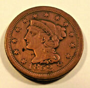 1852 Large One Cent - Braided Hair Lot P01 See Photographs