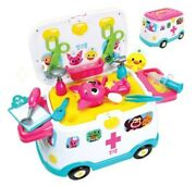 Pinkfong 911 Ambulance Car Hospital Play Toy Role Play Kids Baby