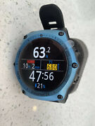 Shearwater Teric With Blue Bezel And Shearwater Wireless Transmitter