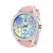 Jacobandco. Five Time Zone Multi-color Mother Of Pearl Diamond Ladies Watch Jc42da