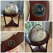 Vintage Replogle 16 Globe World Classic Series On Wooden Rolling Stand. Usma.