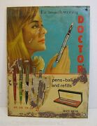 Doctor Pens Refills Gift Sets Advertising Sign For Smooth Writing Tin Litho