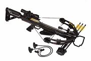 Bruin Ambush 345 Crossbow Package W/ Scope Bolts Quiver And Cocking Rope