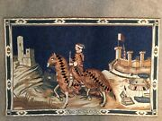 Sale 27andrdquo X 43andrdquo Medieval Soldier/castle Tapestry Wall Hanging Art From Belgium