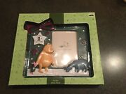 Disney Classic Pooh Baby's First Christmas Picture Frame Holiday Photo Frame 4x6